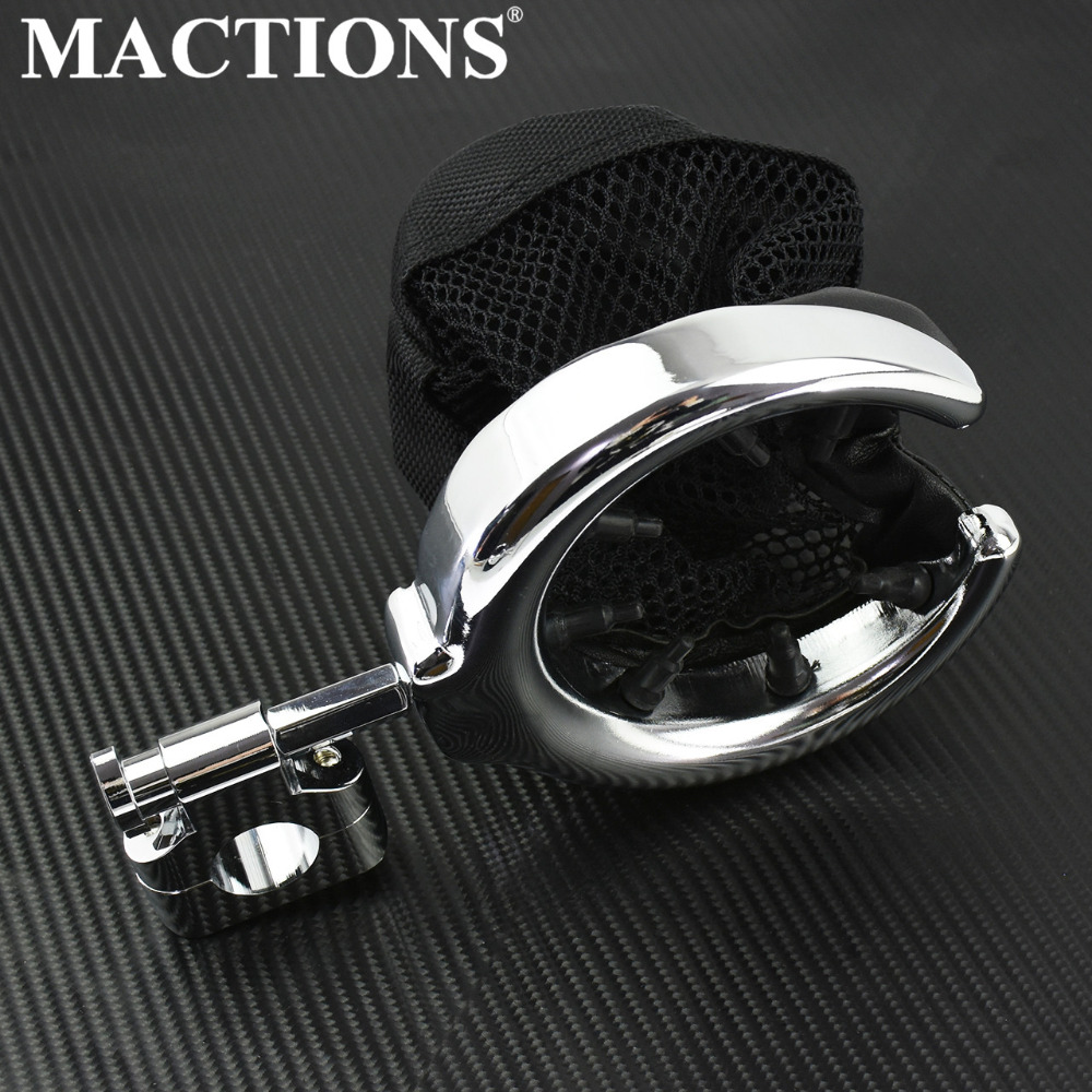 Motorcycle Handlebar Metal Drink Cup Holder 7/8