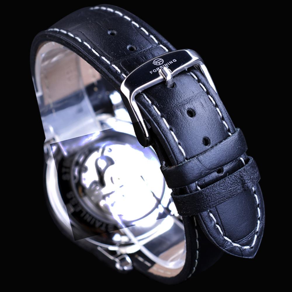 Forsining Kişi Saatı Skeleti Moda Dizaynı Təsadüfi Top Marka - Kişi saatları - Fotoqrafiya 4