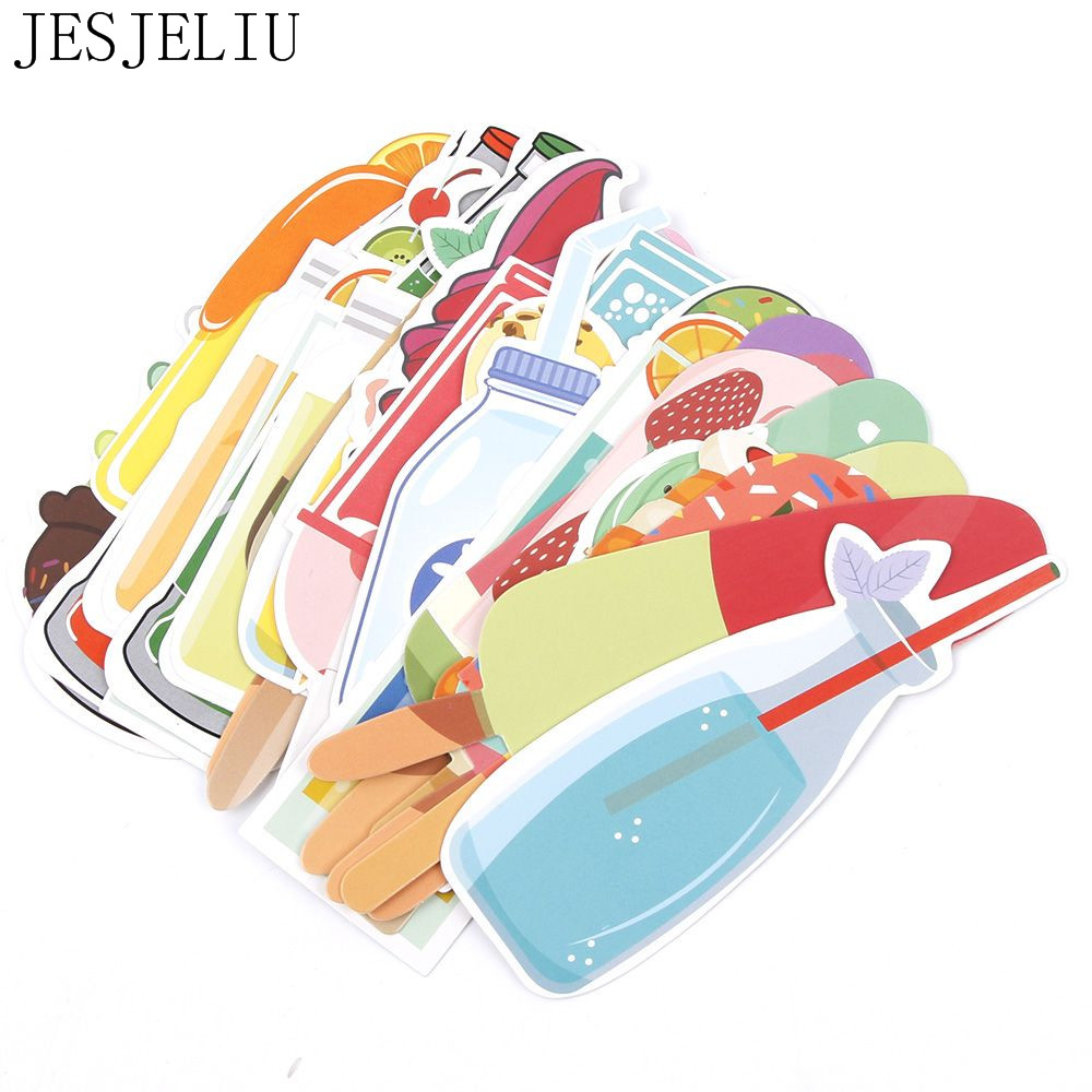30 Pcs/lot Cute Kawaii Ice Cream Soda Paper Bookmark Gift Stationery Film Bookmarks Book Holder Clips School Supplies