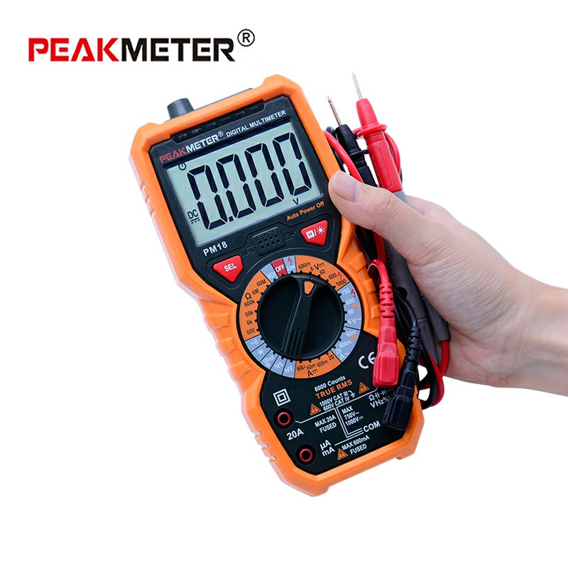 все цены на PM18/PM18C Multimeter Digital Multimtro True RMS AC/DC Voltage Current Resistance Capacitance Frequency hFE NCV Tester PK ms8268 онлайн