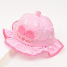 a93b4dc9b3e Cartoon Cat Cap for Girls Bucket Hat Baby Girls Sun Cap Lovely Infant Baby  Summer Hat