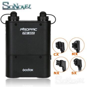 Godox PB960 двойной выход флэш-батарея блок питания 4500 мАч + кабель адаптера для Nikon Canon Yongnuo Godox Sony Flash Speedlite