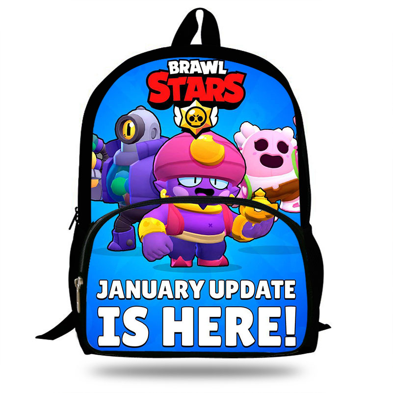 16-inch Mochila School Backpack Popular Brawl Stars Printing Children School Bags Boys Teenage Girls Daily Laptop Backpacks16-inch Mochila School Backpack Popular Brawl Stars Printing Children School Bags Boys Teenage Girls Daily Laptop Backpacks