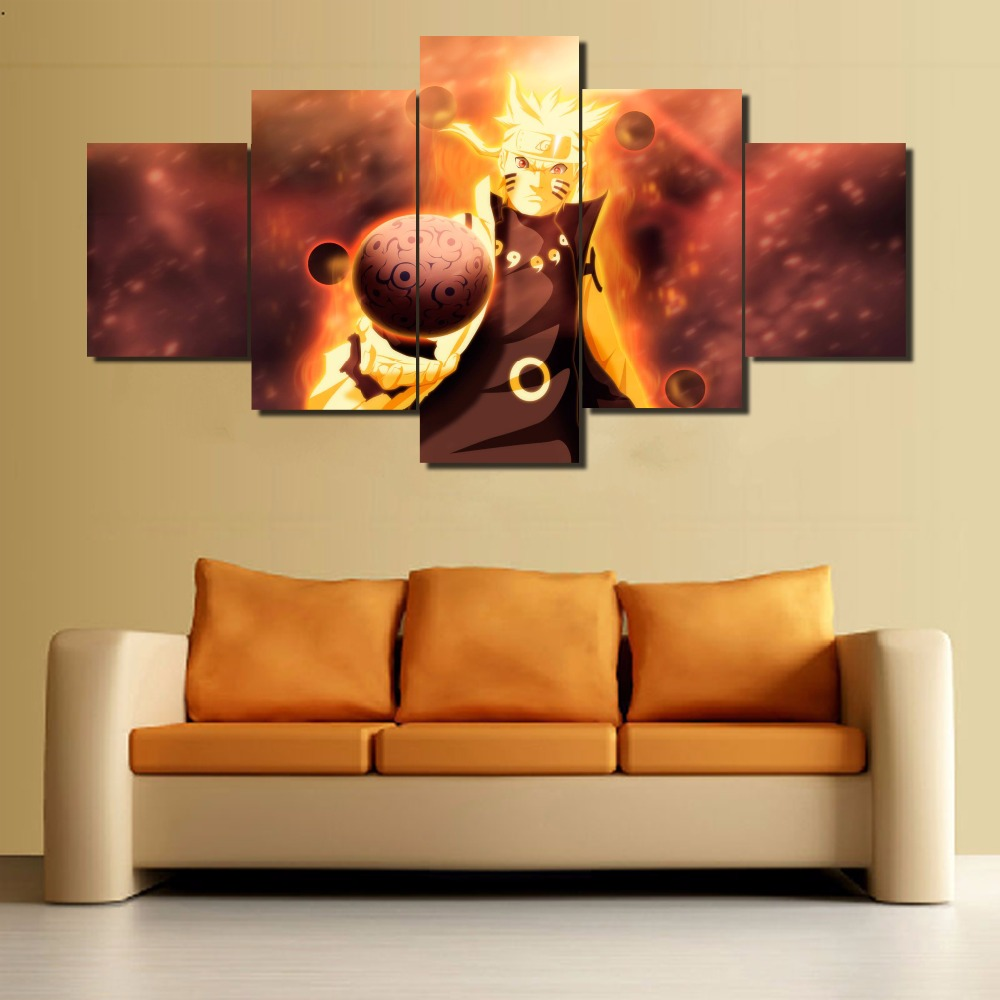 5 Panels Canvas Anime Naruto Shippuden Poster On Canvas