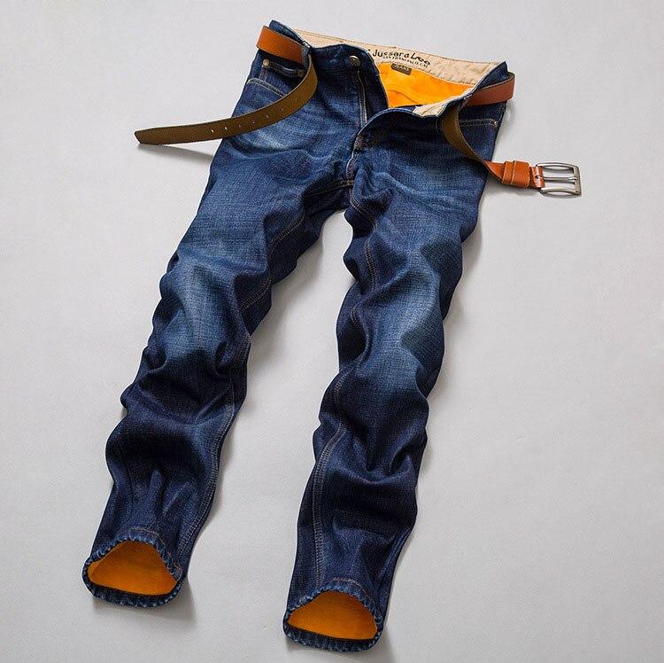 New Men's Plus Velvet Jeans Winter Men Straight Loose Youth Casual Male Mid-Waist Denim Jeans Mens Pants Wholesale hot velvet elastic waist men jeans male