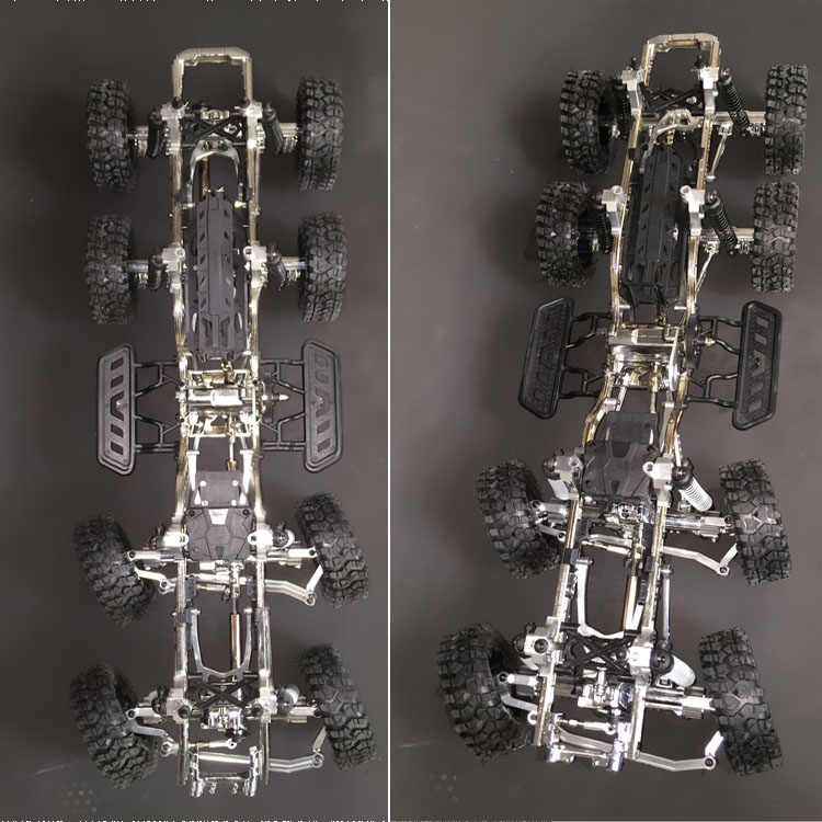 1/10 schaal afstandsbediening auto model 8x8x4 10x10x4 12x12 chassis frame Rock Crawler Truck RC