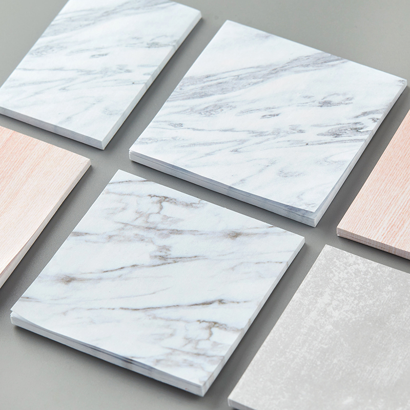 TUTU 2PC Creative Marble Color Self Adhesive Memo Pad Stone Style Sticky Notes Post It Bookmark School Office Stationery G0011 2018 pet transparent sticky notes and memo pad self adhesiv memo pad colored post sticker papelaria office school supplies
