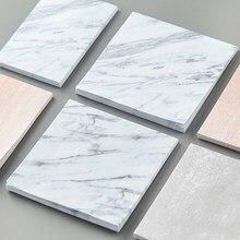 TUTU – Bloc-notes créatif, motif en couleur marbre et pierre, auto-adhésif, papeterie G0011, fourniture de bureau et d'école, sceau Post-It, 2 pièces
