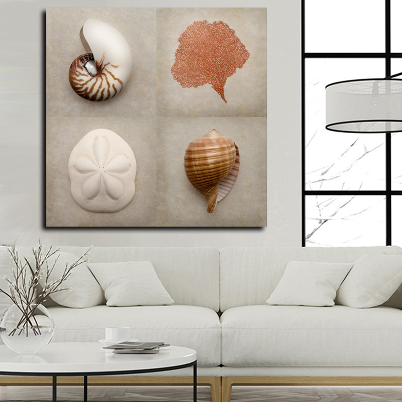 Modern Decor Wall Art Seashell Canvas Picture Digital Printed Wall Painting For Living Room Wall Decoration Home Decor Gift Painting Calligraphy Aliexpress