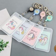 Cartoon PVC Credit Card Holder Women Men Cute Unicorn Business  Cactus ID B Case Kids Gift Passport Bank Wallet