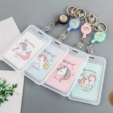 Cartoon PVC Credit Card Holder Women Men Cute Unicorn Business Cactus ID Card B Case Kids Gift Passport Bank Card Wallet(China)