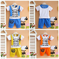 new 2015,summer clothing for children,kids clothes,baby boy clothes,sport suit short sleeve t-shirt+pants set size 80-100
