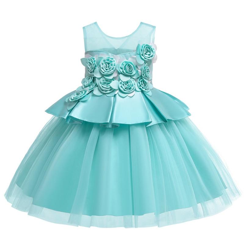 HTB1pDF9RrPpK1RjSZFFq6y5PpXaF Kids Dresses For Girls Elegant Princess Dress Christmas Children Evening Party Dress Flower Girl Wedding Gown vestido infantil