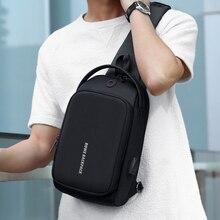 ROWE Male Shoulder Bag USB Charging Crossbody Men Antitheft Chest School Summer Short Trip Messenger 2019 New