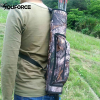 54x13x6 5cm Arrow Quiver With Black Camouflage Oxford 600Dpvc Waterproof For Traditional Recurve Bow Archery Hunting
