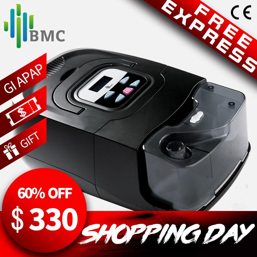 BMC GI Auto CPAP Machine Noir Shell Intelligent de Soins À Domicile Respirateur Pour Sommeil Ronflement Apnée Thérapie Avec Humidificateur Masque Tuyau