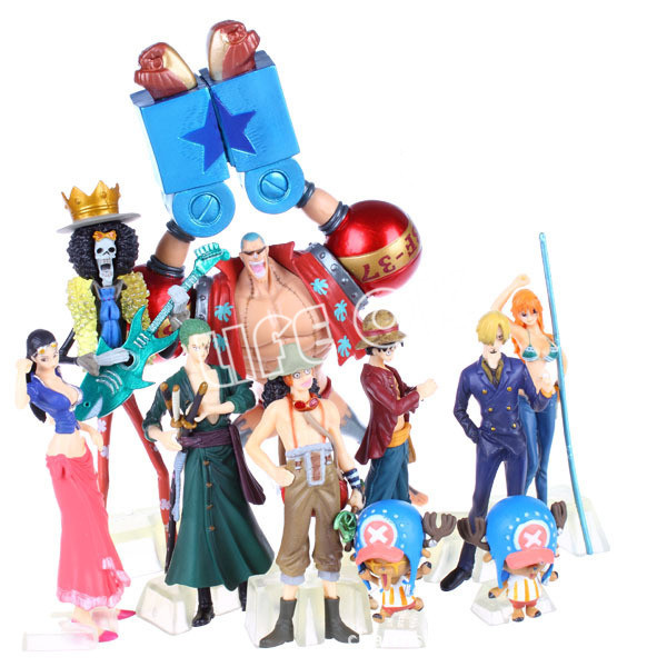 10pcs/set Anime <font><b>Cartoon</b></font> <font><b>One</b></font> <font><b>Piece</b></font> PVC <font><b>Action</b></font> <font><b>Figure</b></font> Dolls Toys Manga <font><b>One</b></font> <font><b>piece</b></font> Collection luffy name Roronoa <font><b>Zoro</b></font> dolls Model