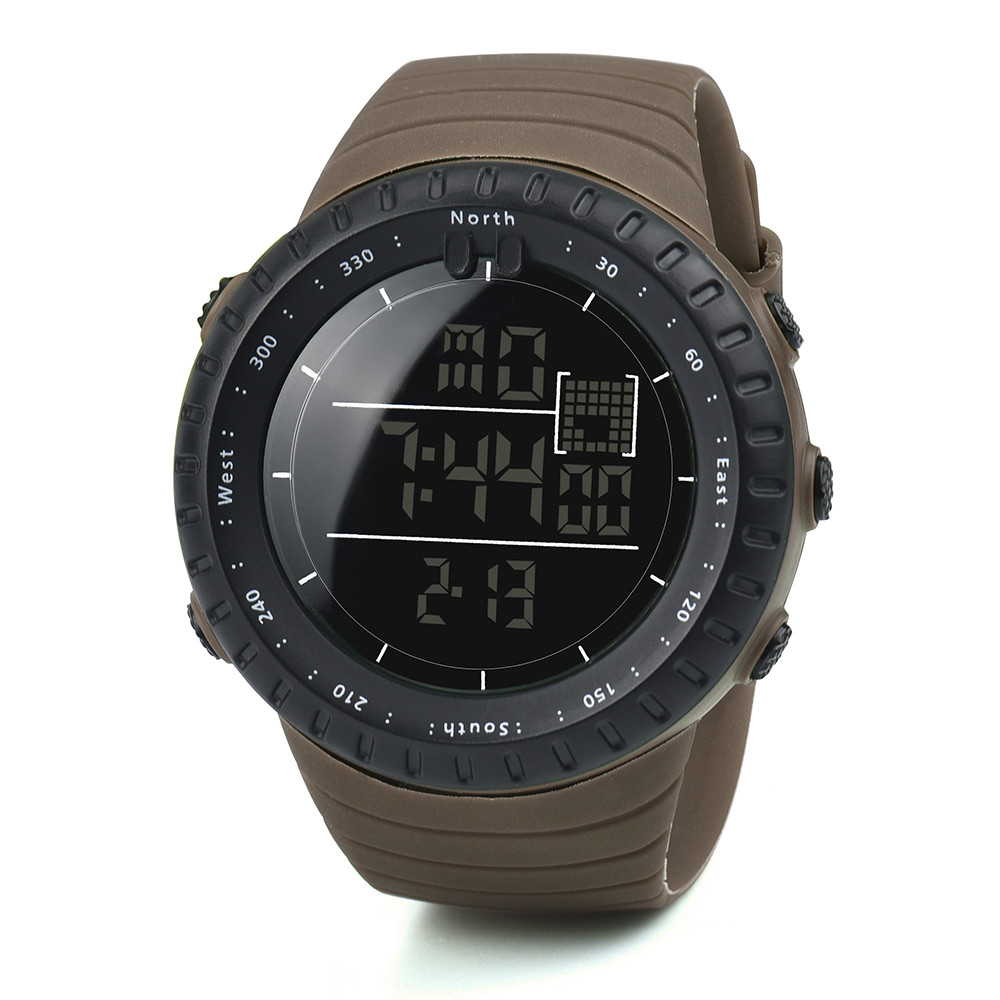 2017 Newly Designed Fashion Black Sports Rubber Band Men's Digital Army Military Quartz Wrist Watch Hot Dropship Y717*