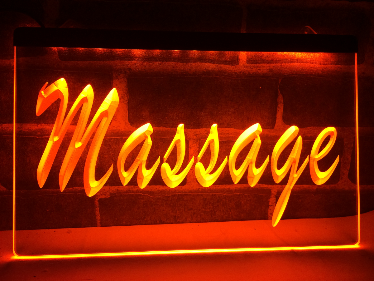 Lk137 massage services display led neon light sign home for Room decor neon signs