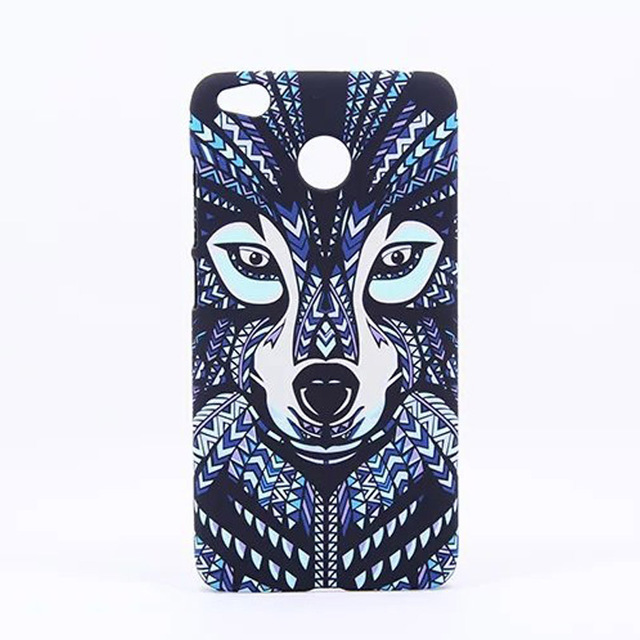 pretty nice ec595 1a5f3 US $6.29 30% OFF|Case For Xiaomi Redmi 4X Cover Ultra thin Plastic Animal  frosted relief night glow Hard For Xiaomi Redmi 4X Casing funda coque-in ...