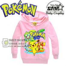 2016 Autumn Pokemon Hoody For Kids Hoodies Long Sleeve Jacket Children s Casual Clothing School Boys