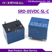5PCS/LOT Relay SRD-05VDC-SL-C   relays 5PINS 5V DC High Quality