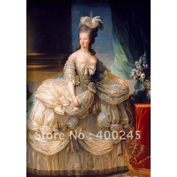 Hand painted portrait oil paintings Marie Antoinette Queen of France Classical beautiful lady Canvas art High quality