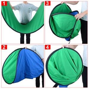 Image 3 - 1*1.5M 2 en 1 Photo pliable réversible Chromakey fond toile de fond panneau/vert bleu réflecteur de lumière pour Youtube Studio