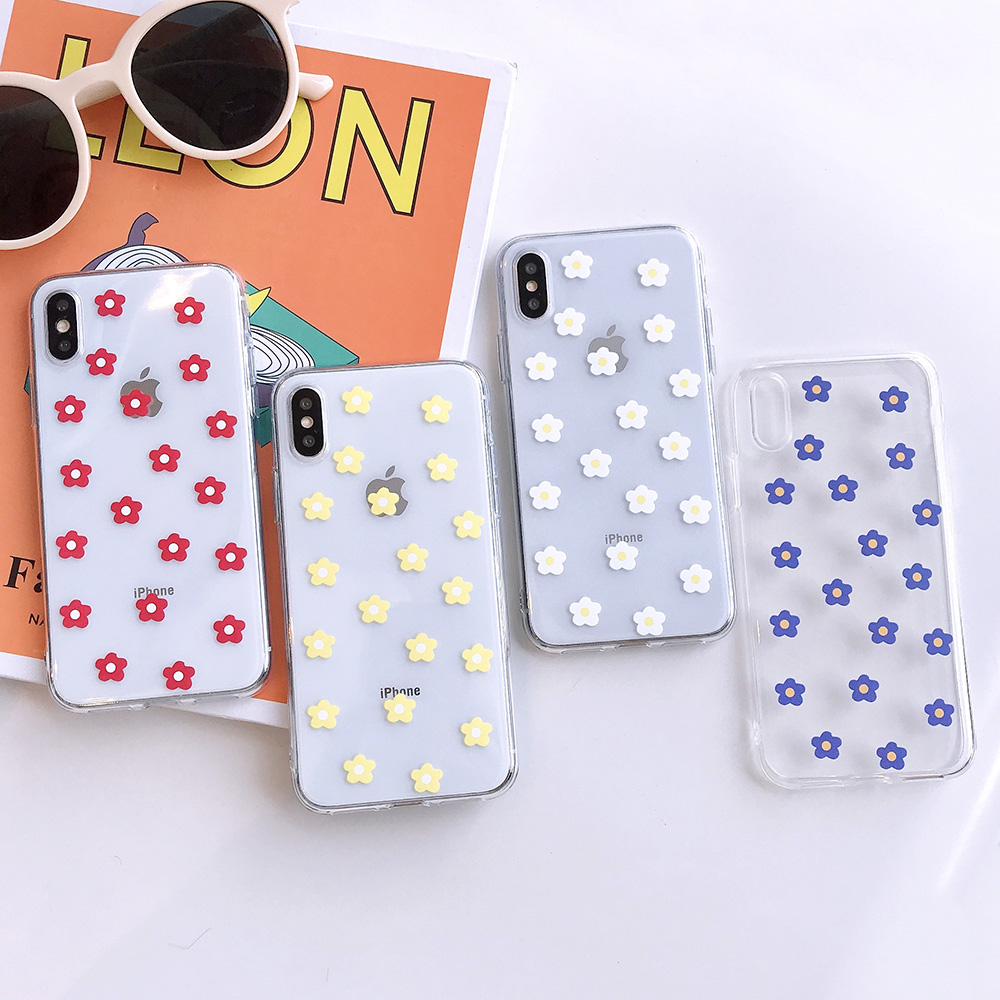 KIPX1117_7_JONSNOW Transparent Flowers Pattern Phone Case for iPhone X XR XS Max 8 Plus 7 6P 6S Cases Soft Silicone Cover Capa Coque Fundas