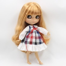 Neo Blythe Doll Plaid Skirt Dress