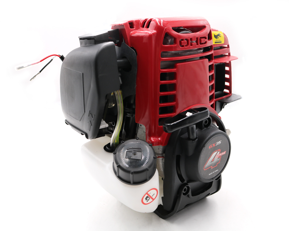 Tools : New 4 stroke engine GX35 4 stroke petrol engine 4 stroke Gasoline engine for brush cutter with 35 8 cc 1 3HP power CE Approved