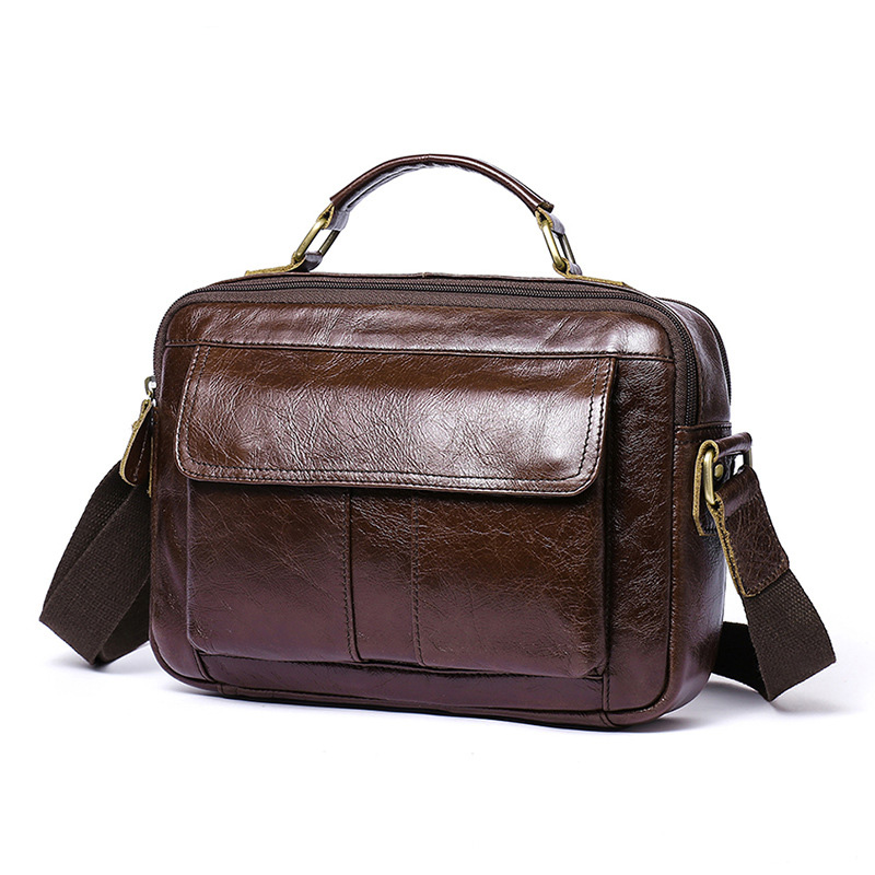 Brand Handbag Men's 100% Genuine Cowhide Leather Shoulder Bag Quality Men Messenger Bags Crossbody For Men Briefcase Bags