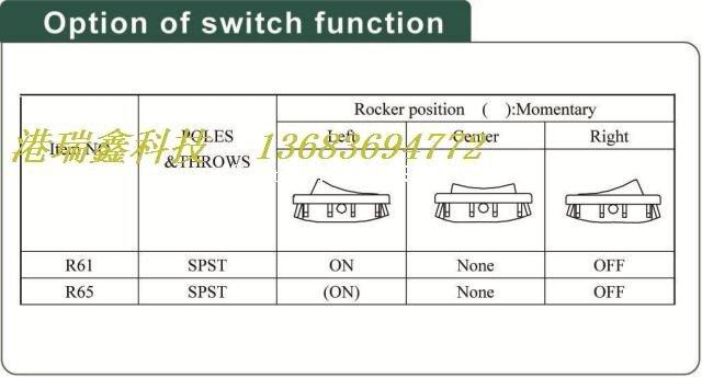 [SA] Мощность триггер Тайвань яркий группы из мелких плоских кулисный переключатель R6 один сброс коммутатора 2 P 2 передач-50 шт./лот