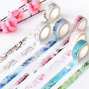 Stickers Scrapbooking Paper Deco Washi-Tape Adhesive Flower Office-Decoration Falls Cute Stationary