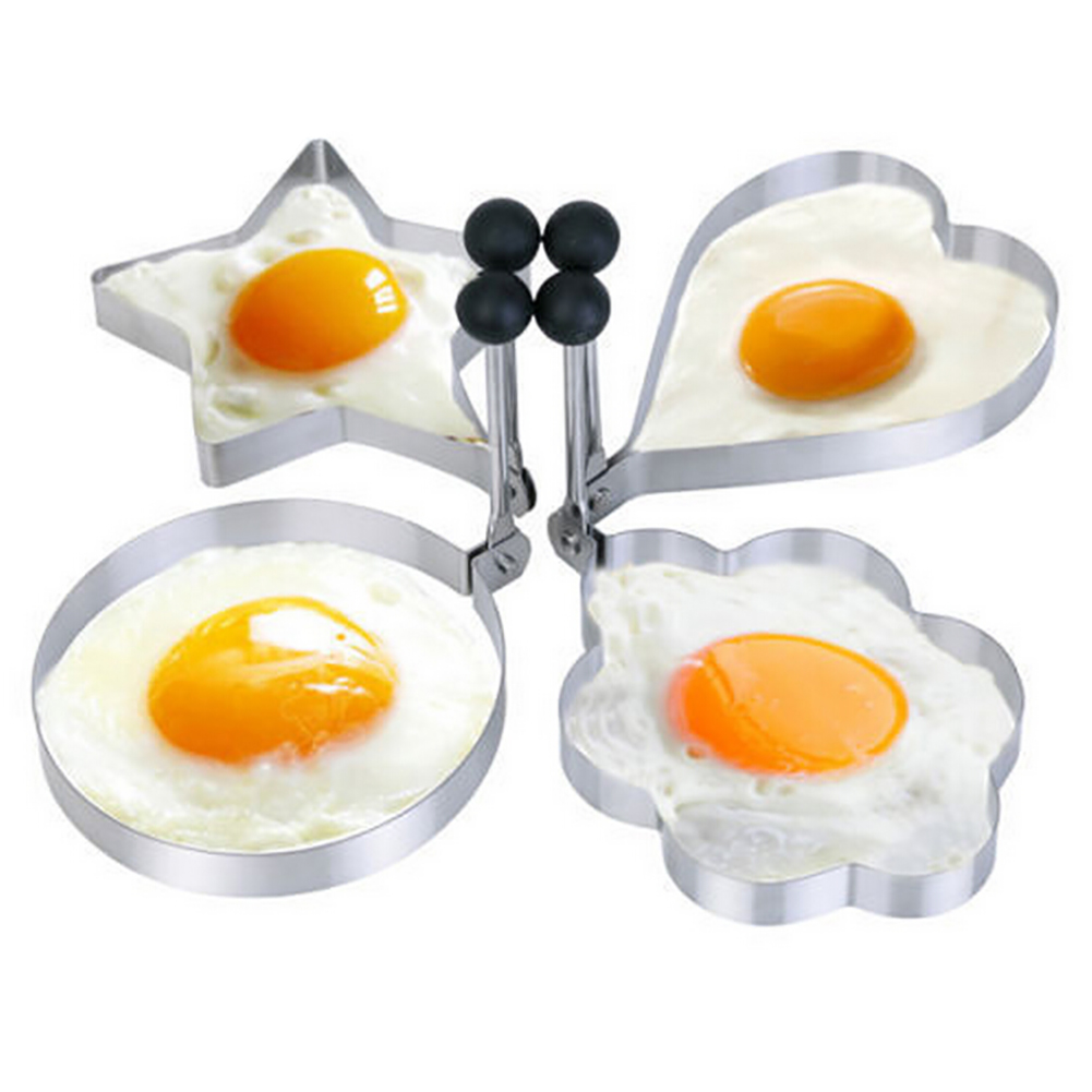 1 Pce Stainless Steel Egg Mold Cook Fried Egg Tools Pancake Rings