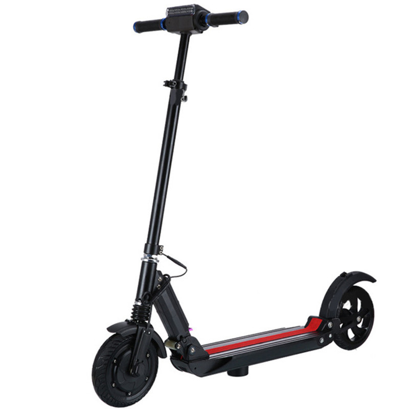 250W 36V strong power city bike folding adult e-scooter skateboard with LED front light and horn