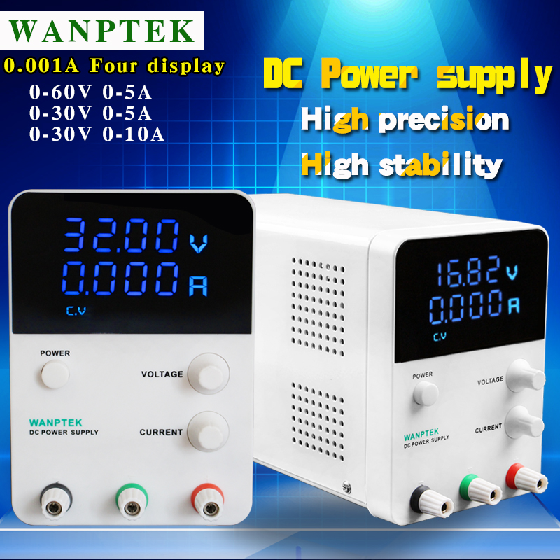 Wanptek GPS3010D high precision Adjustable 0.001A,30V5A Digital DC Power Supply,60V5A Single Channel Laboratory Switching power 1200w wanptek kps3040d high precision adjustable display dc power supply 0 30v 0 40a high power switching power supply