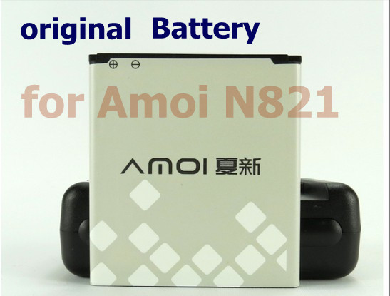 2 pcs/lot Original 2050mAh Battery for Amoi N821 Cell Phone, China Post Airmail free shipping