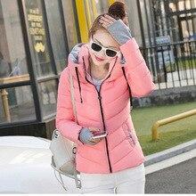 2016 Top Fashion Solid No Zipper Full 100% Ukraine The New Winter Fashion Slim Down Jacket Collar Padded Coat Female Students