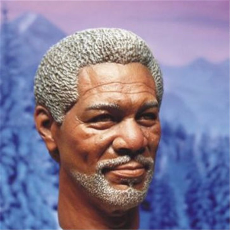Morgan Freeman Male Head Sculpts Model Toys 1/6 Scale Man Head Carving Model For 12