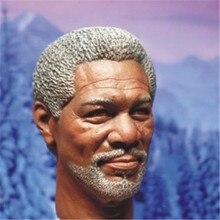 """Morgan Freeman Masculina Homem Cabeça Escultura Esculpe Cabeça Brinquedos Modelo 1/6 Escala Modelo De 12 """"Figura de Ação do sexo masculino Acessório Freeshipping"""