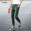 Corredores Homens Calças Basculador Casuais Calças Cargo Moda Estilo Simples Lápis Calças Dos Homens Corredores Com Bolsos Cor Sólida Moda