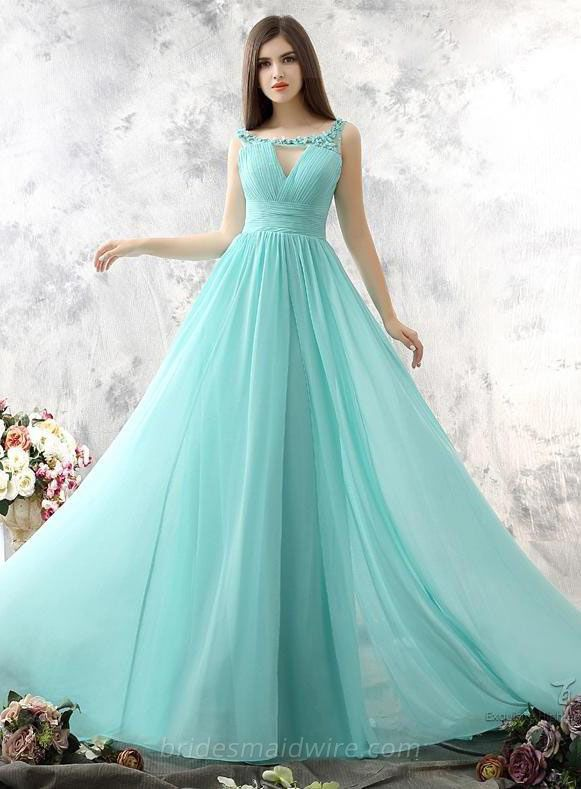 Mint Green Bridesmiad Dresses Long 2017 Hand Made Flower Plus Size Beach Wedding Guest Maid Of Honor 7141509 On Aliexpress Alibaba