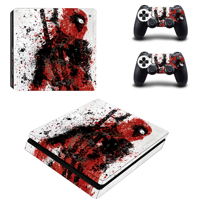 Video Game Decal Stickers For Playstation 4 Slim Console Skin Sticker And 2 Controller Skins PS4 Slim Protective Cover