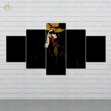 Anime One Piece Canvas Art Wall Pictures Prints Painting  Artwork Home Decoration HD 5 Pieces