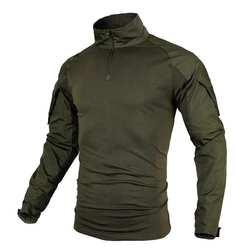 Большой Размеры S-5XL Для мужчин рубашки-милитари армейские форма с длинным рукавом тактическая Рубашки Камуфляж дышащая рубашка