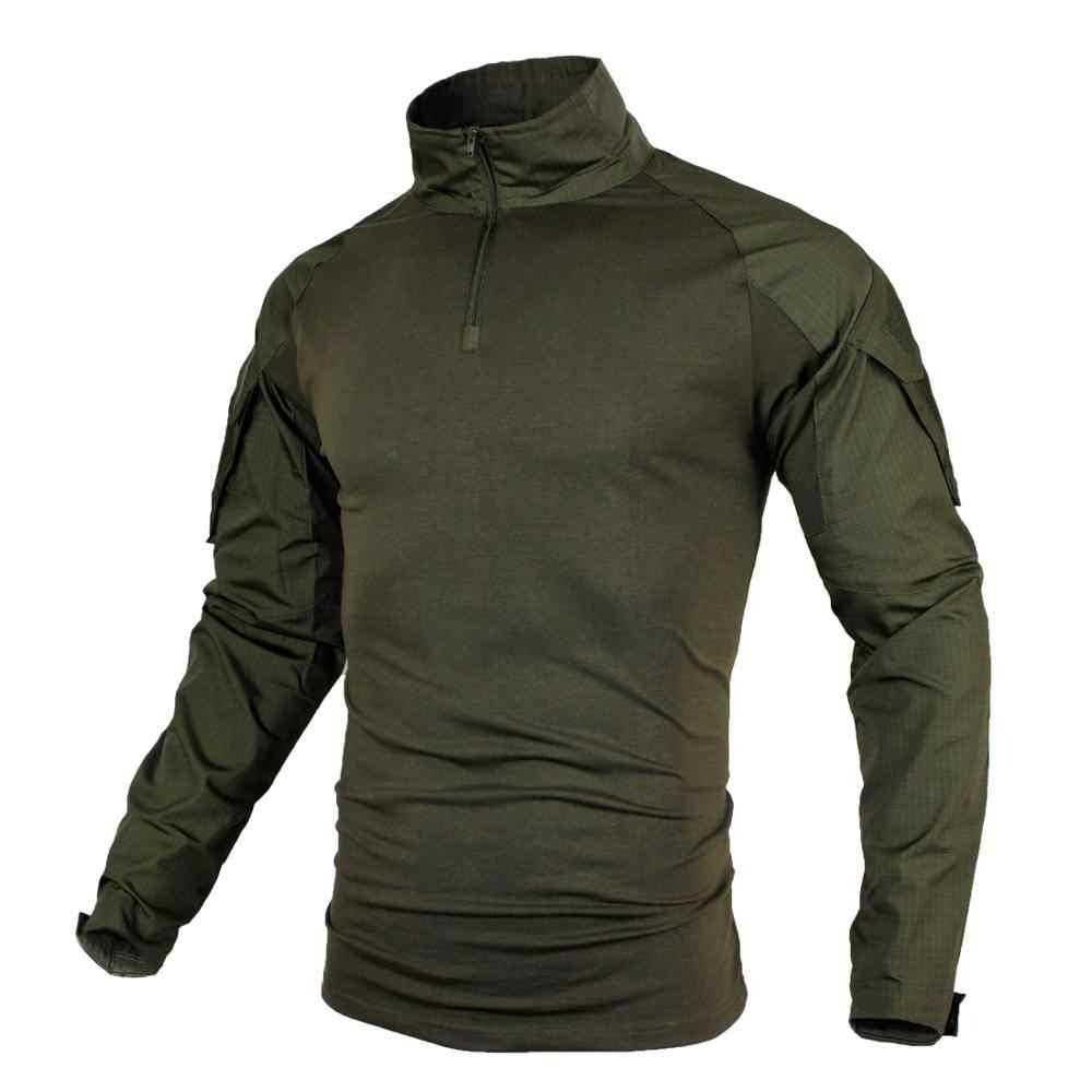 Большие размеры мужские рубашки-милитари Боевая форма с длинным рукавом страйкбол Пейнтбол Тактические рубашки Камуфляж дышащий