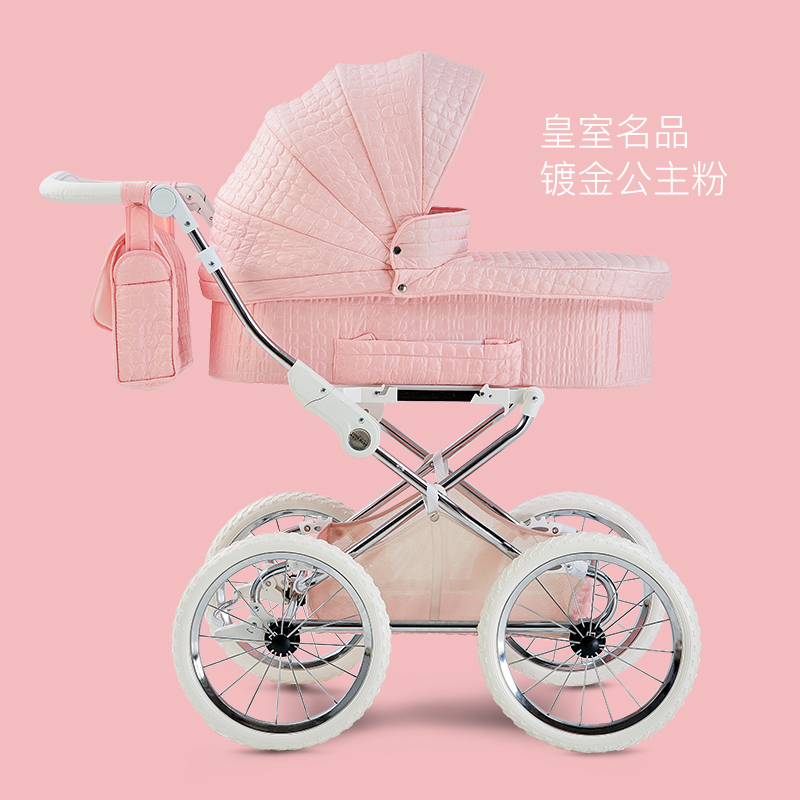 Coolbaby European Baby Stroller, Two-way Shock Resistant, High Landscape Cart, Four Wheeled Cart цена