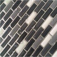 Customized Promotional Mosaic Wall Tile Wallsticker Black