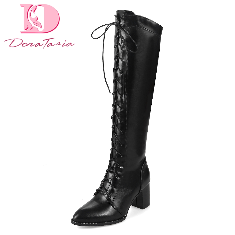 Doratasia PLus Size 33 48 boots Women Shoes Woman riding Boots Fashion best quality Winter knee